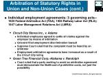 arbitration of statutory rights in union and non union cases cont