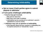 determining arbitrability