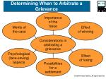 determining when to arbitrate a grievance
