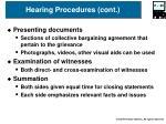 hearing procedures cont