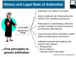 history and legal state of arbitration