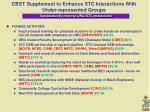 cbst supplement to enhance stc interactions with under represented groups5