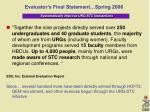 evaluator s final statement spring 2006