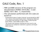 gale code rev 1