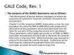 gale code rev 185