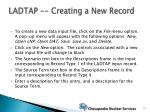 ladtap creating a new record