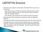ladtap file structure