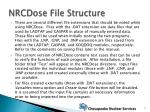 nrcdose file structure