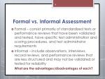formal vs informal assessment
