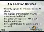 aim location services