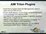 aim triton plugins