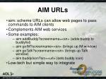 aim urls