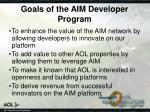 goals of the aim developer program
