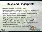 keys and fingerprints