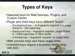 types of keys