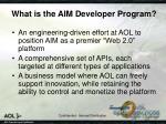 what is the aim developer program