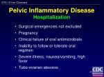 pelvic inflammatory disease hospitalization