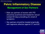 pelvic inflammatory disease management of sex partners