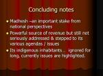 concluding notes21