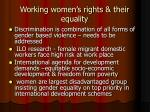 working women s rights their equality