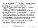 interactive 3d object selection