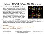 mixed root coin3d 3d scene