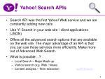 yahoo search apis