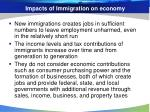 impacts of immigration on economy
