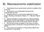 b macroeconomic stabilization