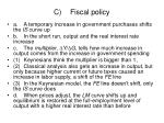 c fiscal policy