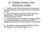 c supply shocks in the keynesian model