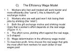 c the efficiency wage model