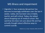 ms illness and impairment9