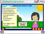 finding the right balance13