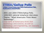 iteea gallup polls http www iteea org taa publications taa publications html polls
