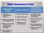 major assessment areas