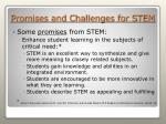 promises and challenges for stem