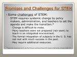 promises and challenges for stem40