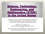 science technology engineering and mathematics stem in the united states