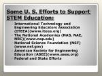 some u s efforts to support stem education