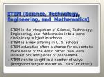 stem science technology engineering and mathematics