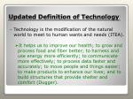 updated definition of technology