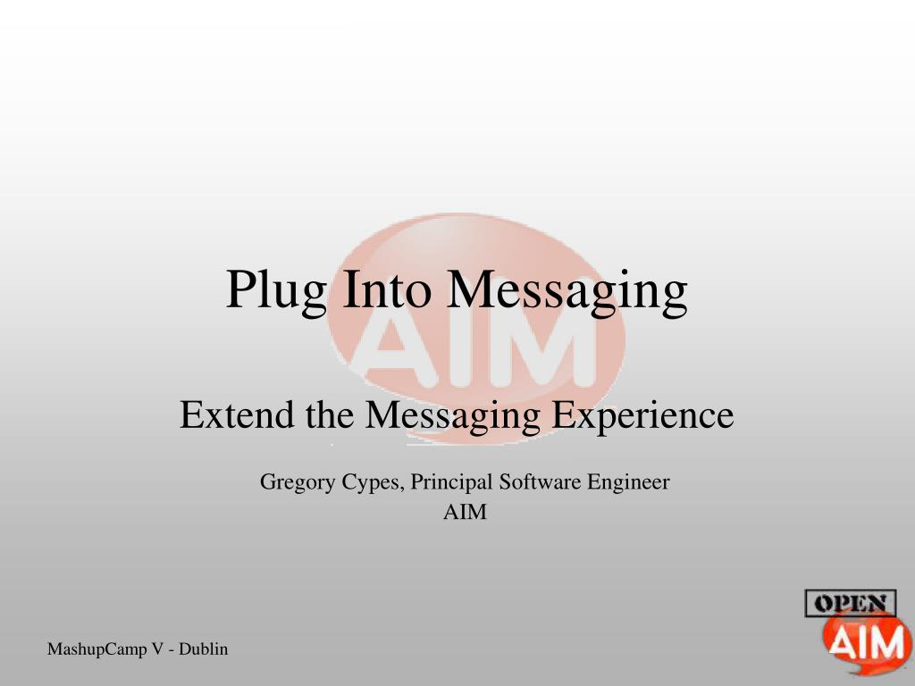 plug into messaging l.