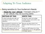 adapting to your audience
