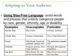 adapting to your audience4