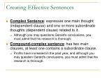creating effective sentences13