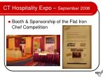 ct hospitality expo september 2008