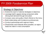 fy 2009 foodservice plan