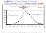 vocabulaire l erreur moyenne de centration emc des tudiants est 5 5 surestimation
