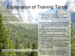 explanation of training terms10